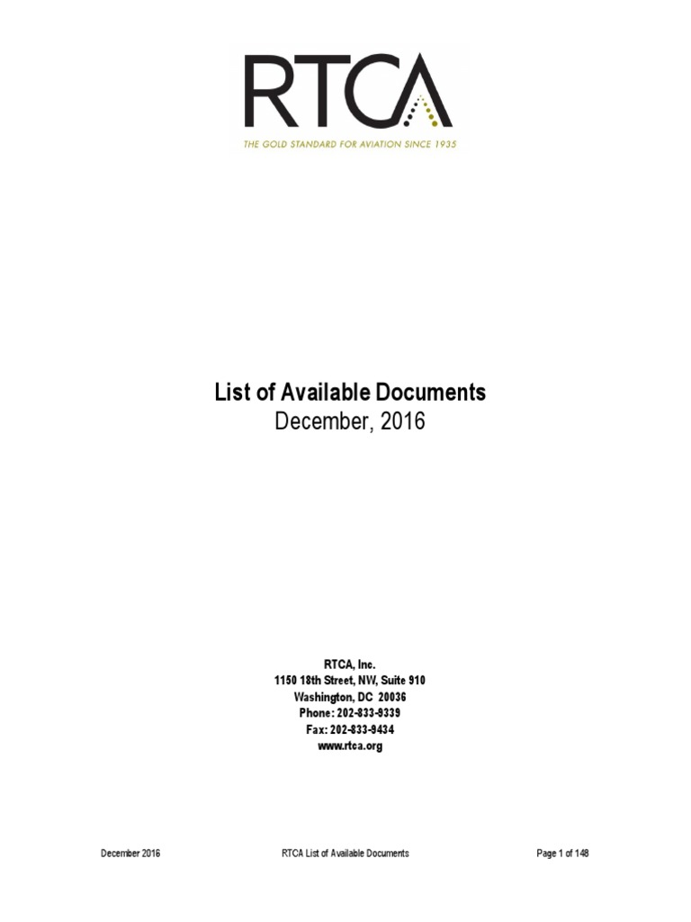 List of available rtca docs air traffic control aerospace list of available rtca docs air traffic control aerospace engineering fandeluxe Image collections