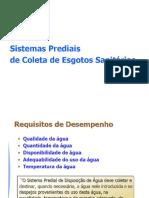 Sistemas Prediais de Coleta de Esgotos Sanitários