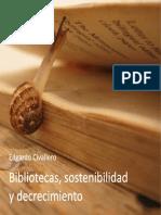 Bibliotecas, sostenibilidad y decrecimiento