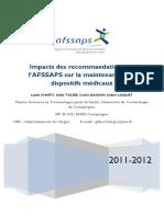 Rapport Maintenance Materiels Medicaux