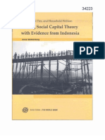 Testing Social Capital Theory With Evidence From Indonesia