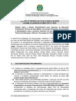 Edital Classificatorio 2017.1