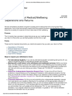 Information About Medical-Wellbeing Separations and Returns