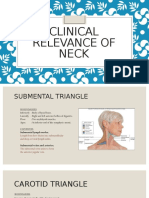 Clinical Relevance of Neck