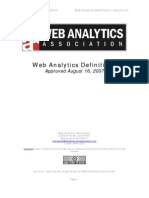 Web Analytics Definitions Vol 1