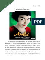 Essay The Fabulous Life of Amelie Poulain