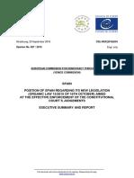 Informe de España a la Comisión de Venecia