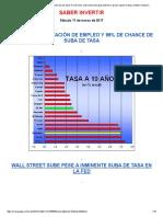 98% de Chance de Que La Fed Suba Las Tasas El Miércoles