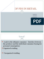 Role of Fdi in Retail