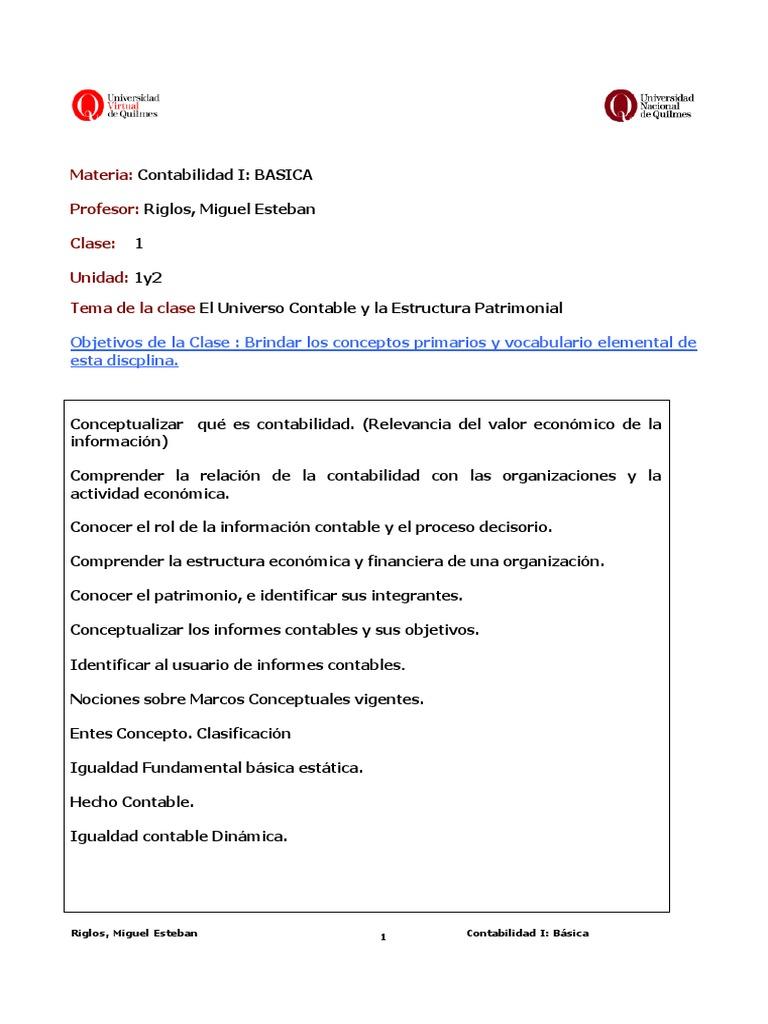 Clase1universocontableyestrucutapatrimonial Pdf