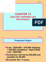 Ch 12 Cash Flow Estimatision and Risk Analysis
