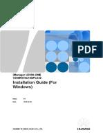 IManager U2000-CME V200R016C10SPC230 Installation Guide (for Windows)