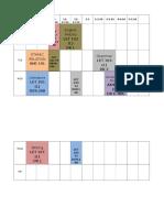 Timetable Sem 1