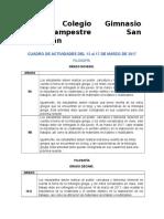 Cuadro de Actividades 4 FILOSOFÍA.