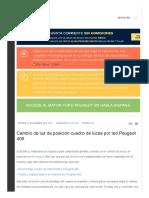 Cambio de Luz de Posición Cuadro de Luces Por Led Peugeot 406 - Club Peugeot España