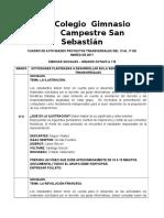 8° ACTIVIDADES P. TRANSVERSALES DEL 13 AL 17 DE MARZO DE 2017