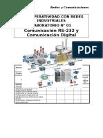 Lab 01 - Comunicacion RS232 y Comunicacion Digital