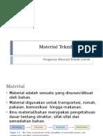BAB I PENGANTAR Material Teknik Elektro