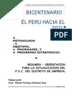 Plan 10604 Plan Bicentenario Perú  Resumen