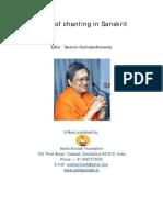 Rules of Chanting in Sanskrit