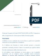 Onetouch 6033 User Manual Italian
