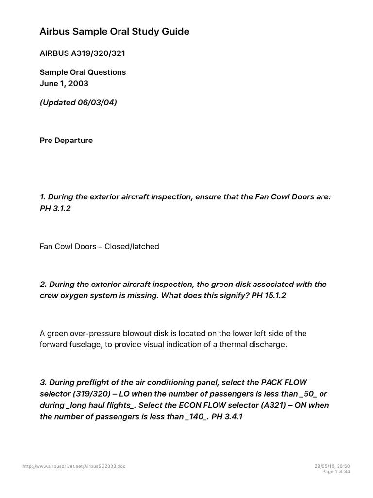 airbus sample oral study guide takeoff airport rh es scribd com