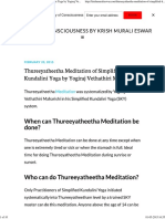 Thureeyatheetha Meditation of Simplified Kundalini Yoga by Yogiraj Vethathiri Maharishi - Journey of Consciousness by Krish Mur