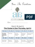aloha aina packet  2017