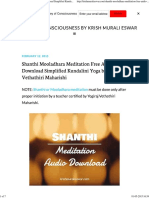 Shanthi Mooladhara Meditation Free Audio Download Simplified Kundalini Yoga by Vethathiri Maharishi - Journey of Consciousness