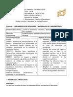 Practica 1. Lineamientos de Seguridad y Materiales de Laboratorio