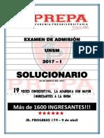 SOLUCIONARIO DE EXAMEN DE ADMISION UNSM 2017 - I