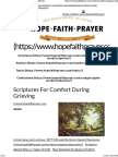 Scriptures for Comfort During Grieving _ HopeFaithPrayer
