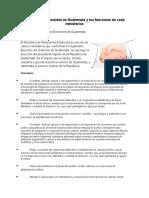 Ministerios Que Existen en Guatemala y Los Funciones de Cada Ministerios