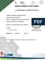 Mercadotecnia portafolio de evidencias unidad1