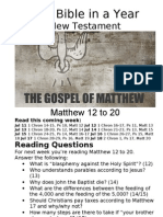 Bible in a Year 34 NT Matthew 12 to 20