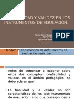 Confiabilidad y validez en los instrumentos de educación