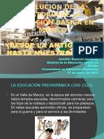 EVOLUCIÓN DE LA HISTORIA DE LA EDUCACIÓN BÁSICA