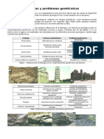 Factores Geológicos y Problemas Geotécnicos
