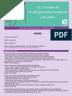 1. Agenda II Jornadas Feministas y de Género