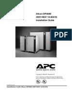 APC Silcon 10 80kVA Installation Guide