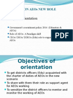 CEO,DeO,DDEO Orientation on AEOs New Role