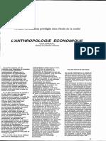 anthropologie economique