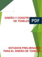 3.- Túneles. Estudios Preliminares