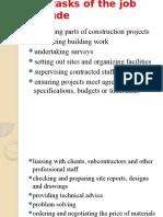 Tasks of a Site Engineer