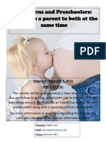 parenting class proposal flyer