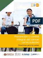 SPANISH - Cervical Cancer Guidance