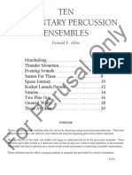 10 Percussion Ensembles
