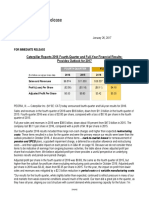 4Q16 Caterpillar Inc. Results