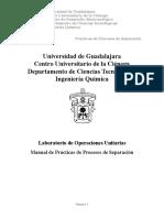 Manual de Practicas de Procesos de Separacion 2016
