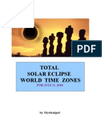 Total Solar Eclipse 2010 World Time Zones